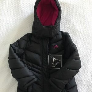 Other - Vertical 9 Black Puffer Coat for Girls
